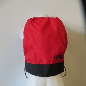 THE NORTHFACE RED BLK DRAWSTRING BACKPACK SACK *